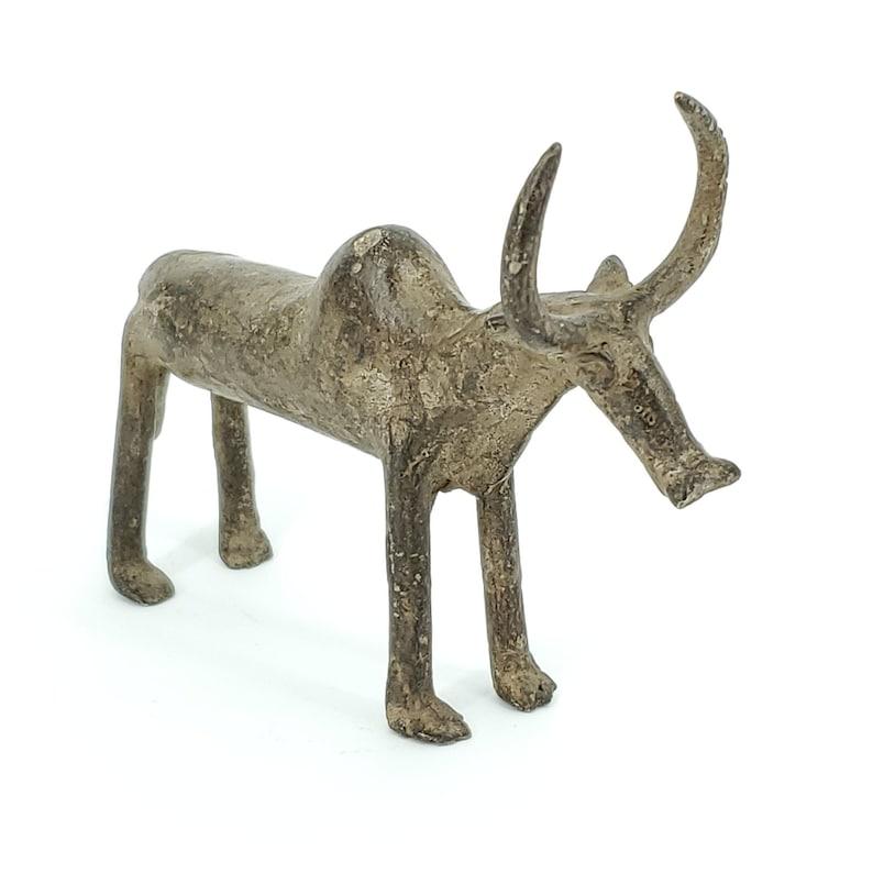 Bobo Bronze Bull Statue from Burkina Faso