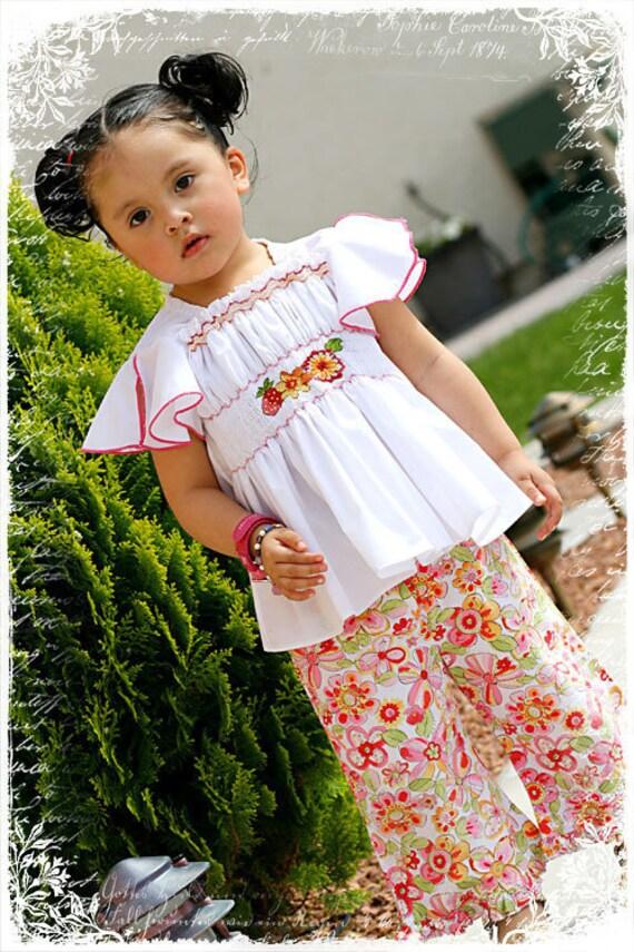 Girls Vintage Designer Custom Boutique Portrait Bl