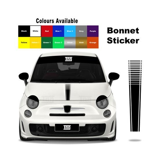 2 x Fiat Abarth 500 Scorpion Logo Bonnet Decal//Sticker