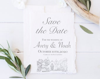with A2 Envelope California Wedding Save The Date Carmel Valley with Poppies Save the Date Card California Summer Wedding