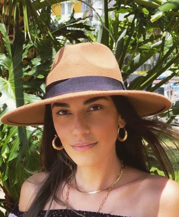 Wide Brim Fedora Hat-panama hat-women fedora hat-