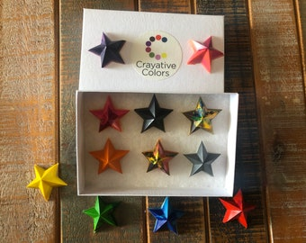 Fourth of July Independence Day Stocking Stuffer Fathers Set of 8 Kids Birthday Party Favor Star Crayons Teacher Gift Easter