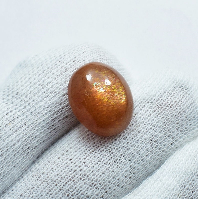 Beautiful Sunstone Gemstone Best Quality Oval Shape 16.55 Cts 17x14.5 MM SNS-5 Fabulous !! 100/% Natural Sunstone Cabochon Gemstone