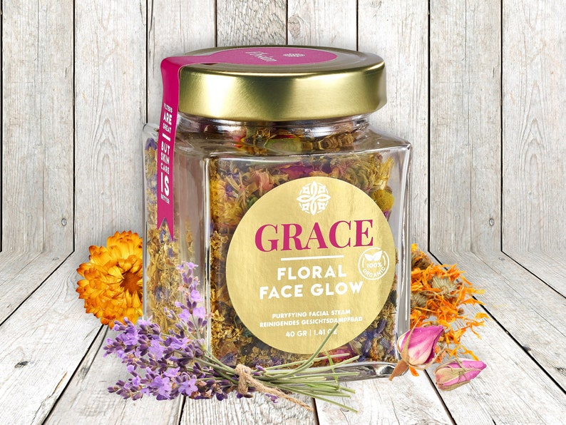 Floral Face Glow Face Steam: 100% organic and handmade image 0