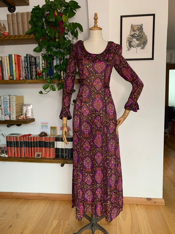 Vintage Dollyrockers Prairie Dress 1970s Sheer Dre