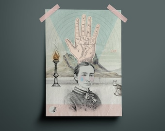 Poster, A4 Print, Collage, Vintage, Hand, Feel, Soft Colors, Soft Colors, Illustration, Art, Design