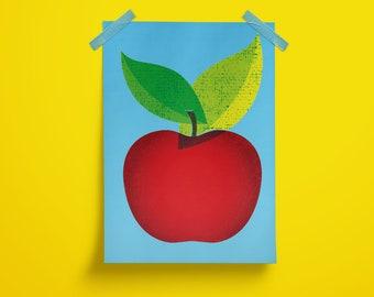 Poster, A4 Print, Apple, Holland, Apple, Color, Color, Illustration, Art, Design