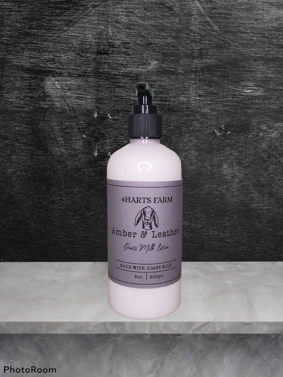Leather and Amber Goats Milk Lotion