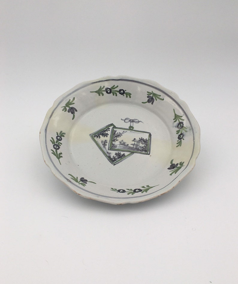 18th century earthenware plate FRANCE