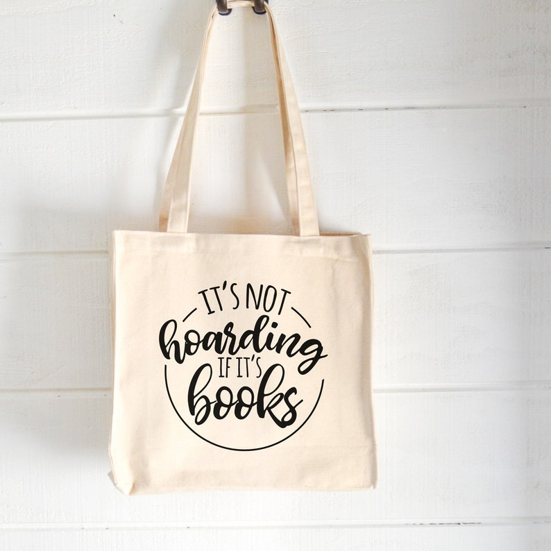 Funny Canvas Bag| Humorous Book Sayings| Gifts for Readers | Shopping Tote Book Lovers Tote Library Bag