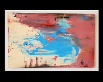 Reciting Poetry to Her... - Abstract Painting Art Original