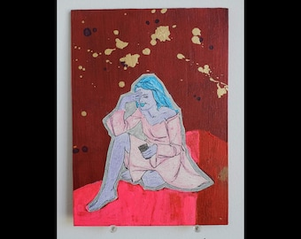 Mars Philosophy - Collage Painting Art Original