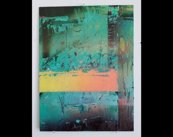 Consciousness Rising Out of Desperate State - Abstract Painting Art Original