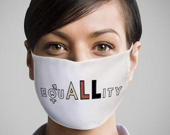 Equality Face Mask - Equality Mask - Unisex Face Mask With Filter - Face Protection Mask UK - Anti Dust