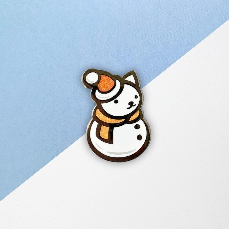 Cat Snowanimal Enamel Pin