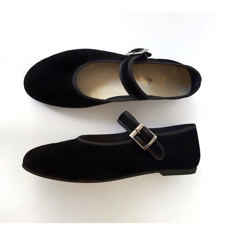 History of Victorian Boots & Shoes for Women Women Shoes Ballet black velour handmade by Harlem Shoes $176.88 AT vintagedancer.com