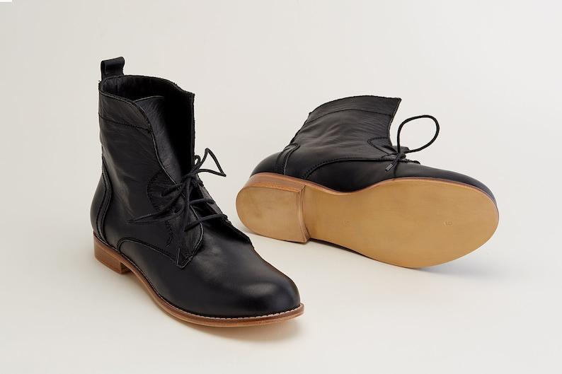 Swing Dance Shoes- Vintage, Lindy Hop, Tap, Ballroom Women Swing Dance Shoes Harlem Boots black leather handmade by Harlem Shoes $215.82 AT vintagedancer.com