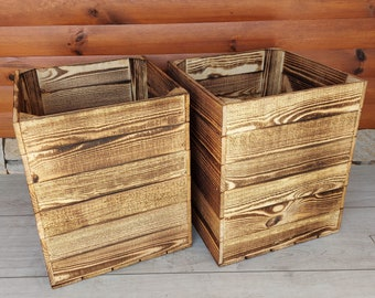2,3,4 Very Durable-Stable Storage Wooden Fruit Apple Crates Boxes Home Decor-Clean !