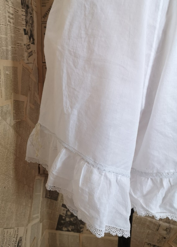 Antique Victorian cotton bloomers, Knickers - image 3