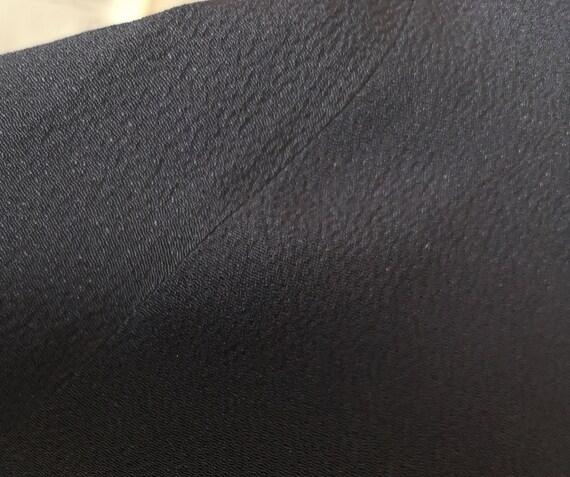 Vintage 30s long black crepe skirt - image 10