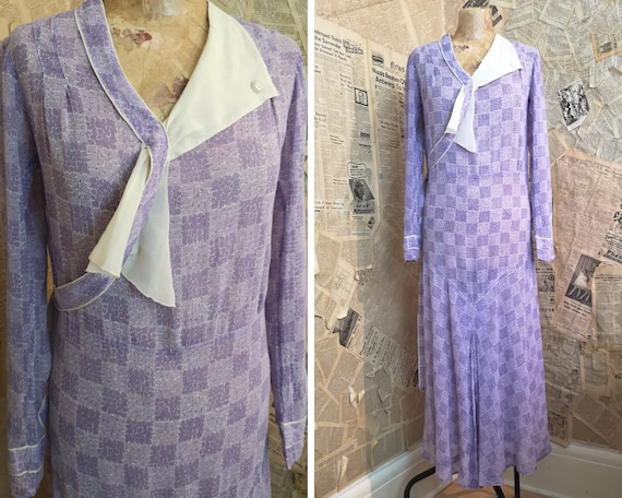 Vintage 1920's cotton day dress, Liberty and Co