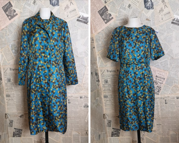 Vintage 60s two piece dress, spotted
