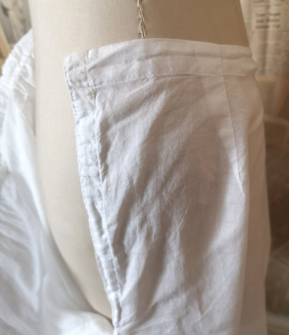 Antique Victorian cotton bloomers, Knickers - image 5