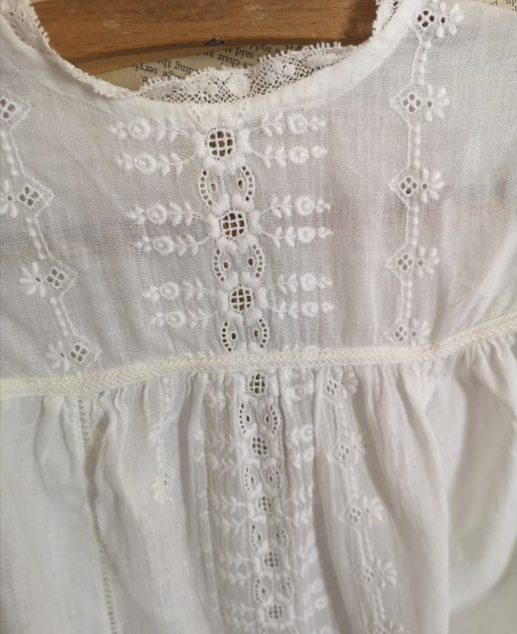 Antique Victorian childs cotton dress - image 4