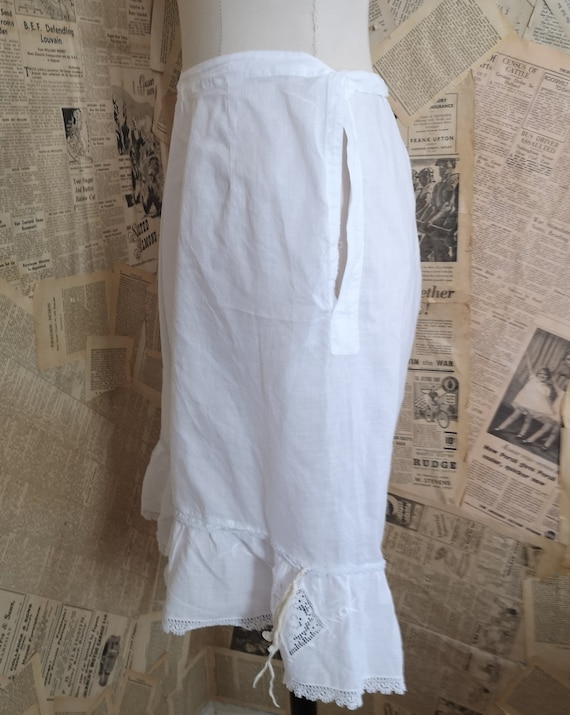 Antique Victorian cotton bloomers, Knickers - image 2
