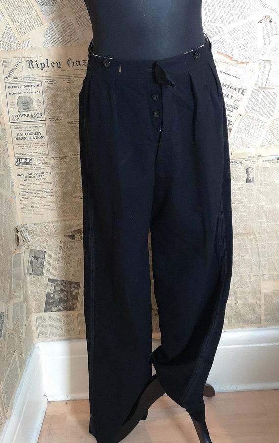 Vintage mens fishtail trousers, 1930s