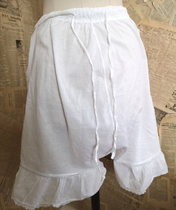 Antique Victorian cotton bloomers, Knickers - image 7