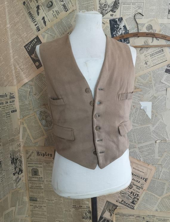Vintage 1940s mens hunting waistcoat