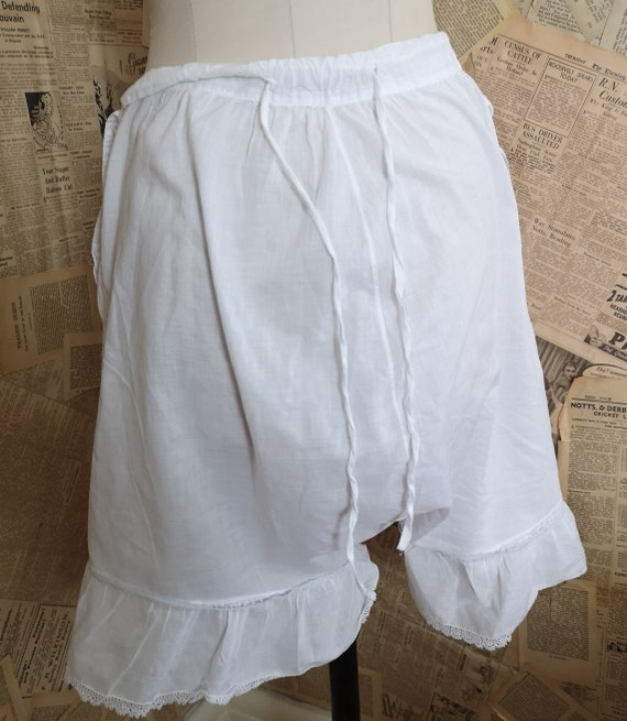 Antique Victorian cotton bloomers, Knickers - image 8