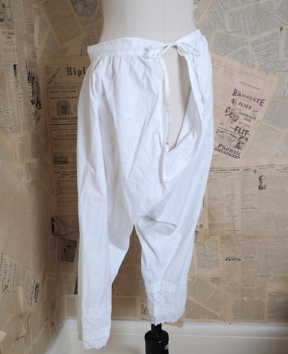 Victorian cotton bloomers, pantaloons