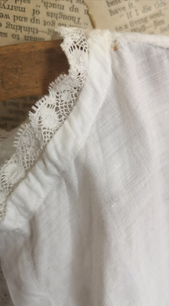 Antique Victorian childs cotton dress - image 6