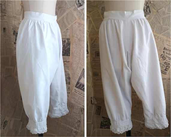 Antique Victorian cotton bloomers, pantaloons, bro