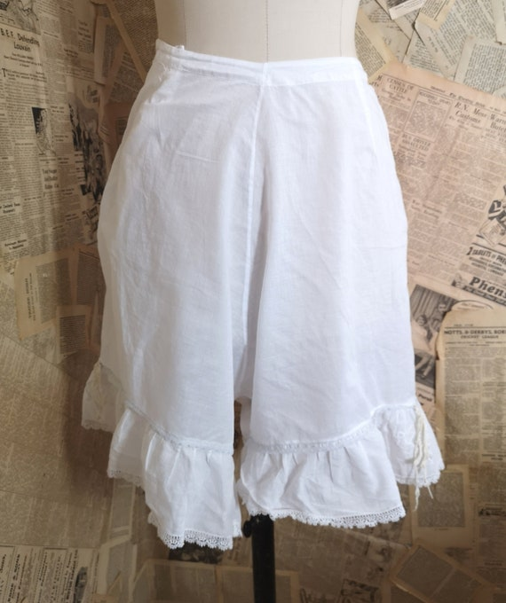 Antique Victorian cotton bloomers, Knickers