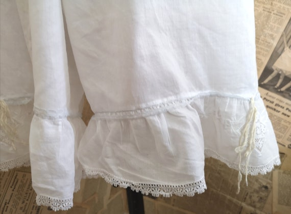Antique Victorian cotton bloomers, Knickers - image 10