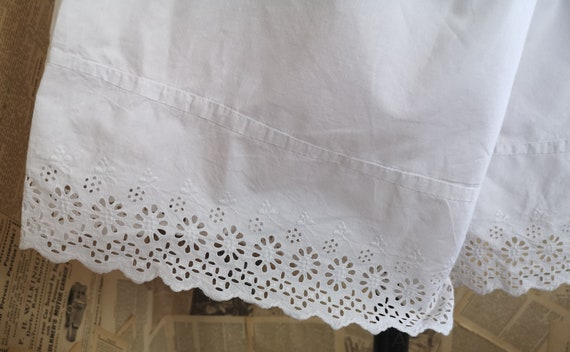 Antique Victorian cotton bloomers, knickers, brod… - image 6
