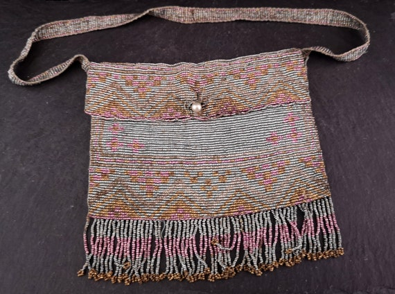 Vintage 30s French beaded purse