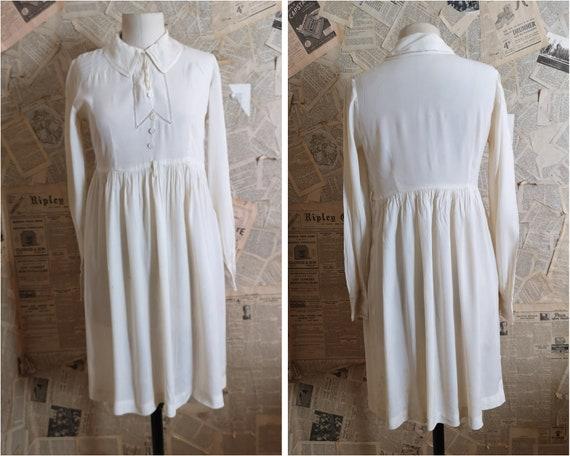 Vintage 1930s Harrods silk tea dress