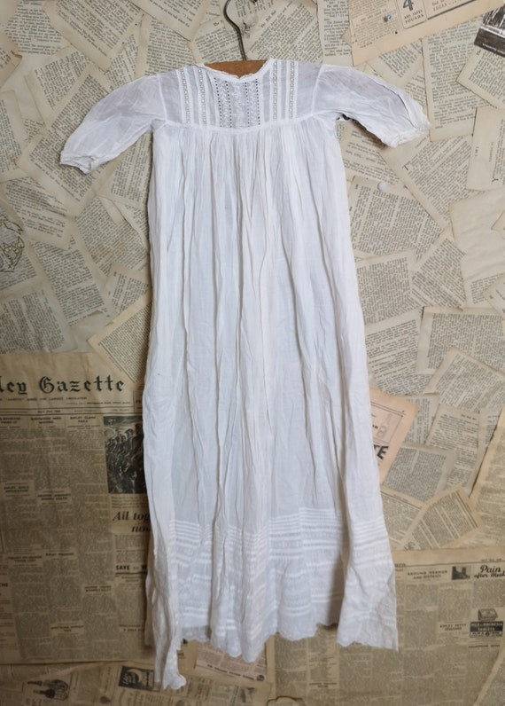 Antique christening gown, broderie anglaise, baby
