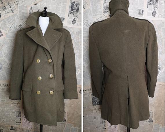 Vintage 40's WW2 mens overcoat, Regulation British