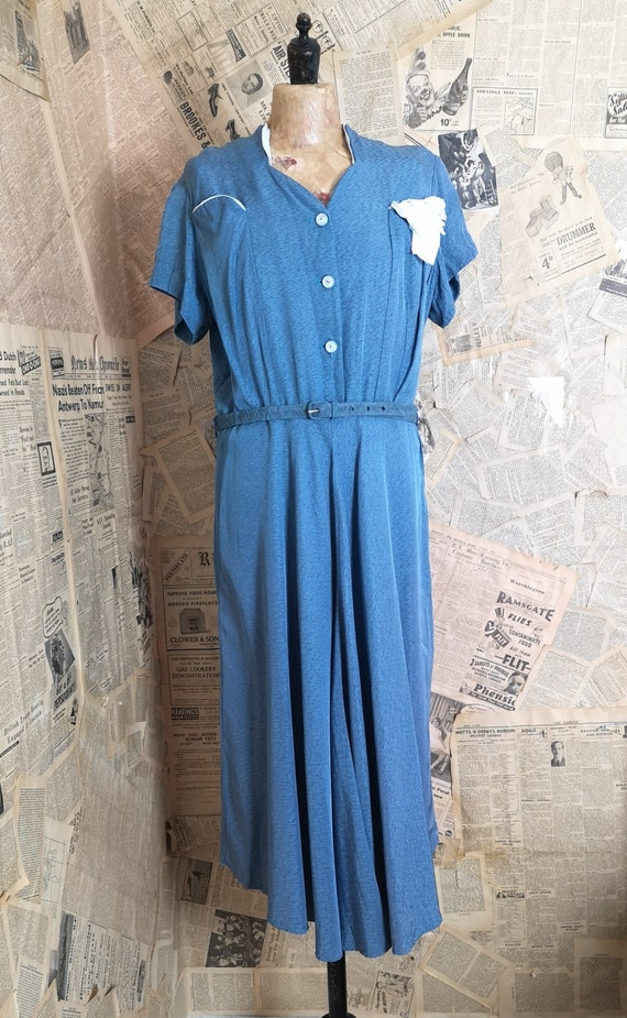 Vintage 1940s tea dress, labelled