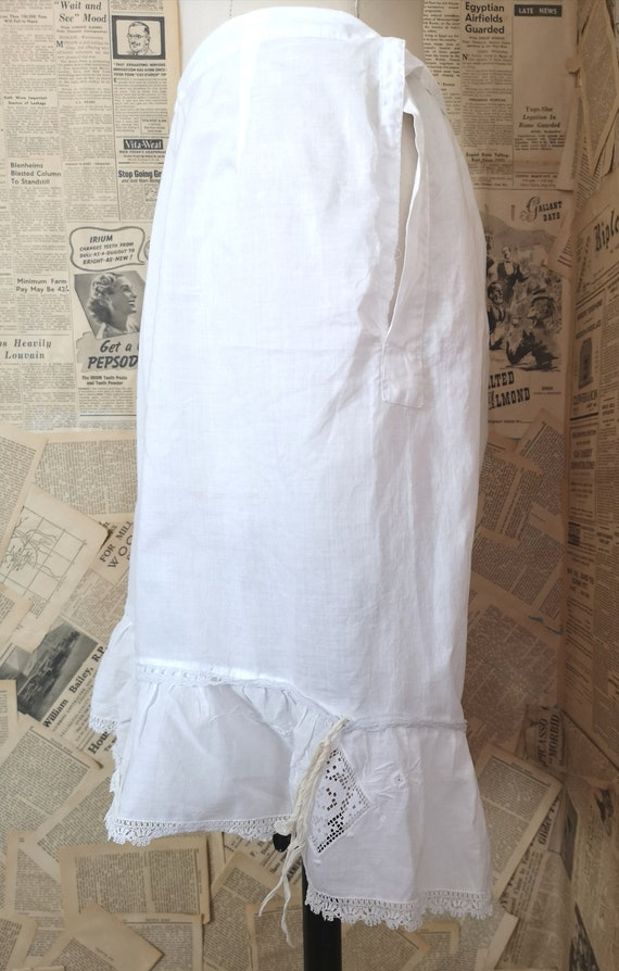 Antique Victorian cotton bloomers, Knickers - image 4