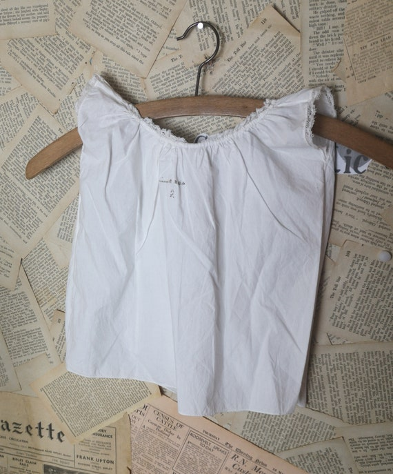 Vintage French cotton camisole baby vest