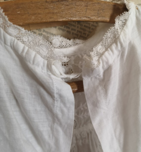 Antique Victorian childs cotton dress - image 9