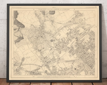 Old maps of London