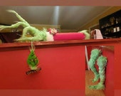 Grinch arm for Christmas tree, grinch, grinch arm with ornament. Also sell legs on my shop!