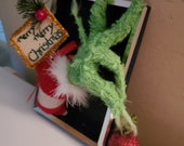 Grinch hand holding ornament, Christmas tree ornament, Christmas gift, green hand with ornament. grinch hand. I also sell the grinch arm